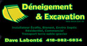 Déneigement & Excavation Dave Labonté